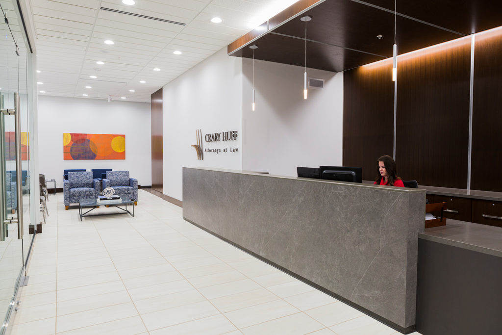 CMBA Architects Crary Huff Law Firm Entry