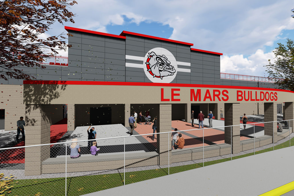 Exterior of Le Mars Community Middle / High School
