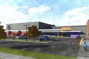 Digital design rendering of Graettinger-Terril Community Schools exterior