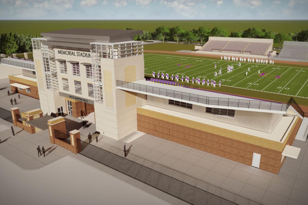 Exterior of Grand Island Public Schools, Memorial Stadium