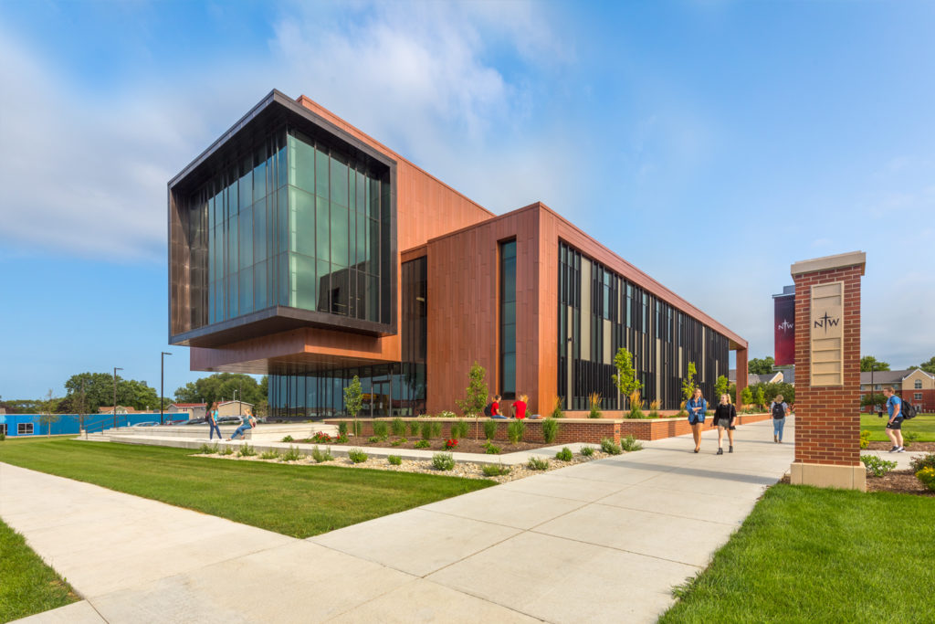 Exterior of Northwestern College, Jack and Mary DeWitt Family Science Center