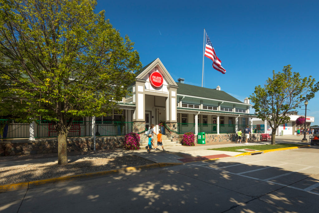 Exterior of Majestic Pavilion in Arnolds Park, IA