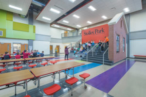 Commons area of Stolley Park Elementary School