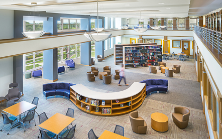 CMBA-Architects-Hickman-Johnson-Furrow-Library-Morningside-College-Interior-Overhead