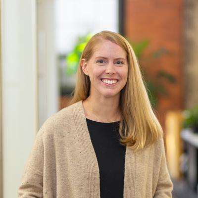 Headshot of CMBA Interior Designer, Amanda Kreutzer