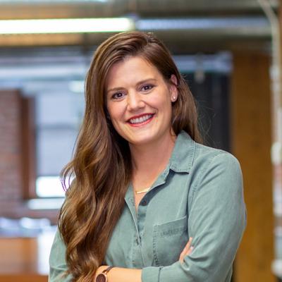 Headshot of CMBA Interior Designer, Morgan Driskell
