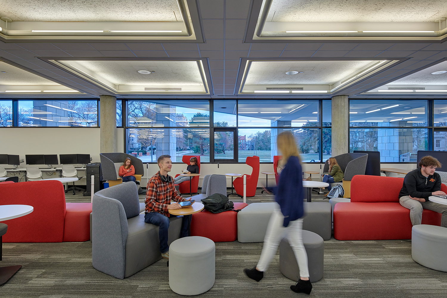 Interior of Iowa State University, Parks Library