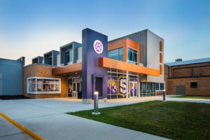 Exterior of Spencer Community Schools, Fine Arts Center