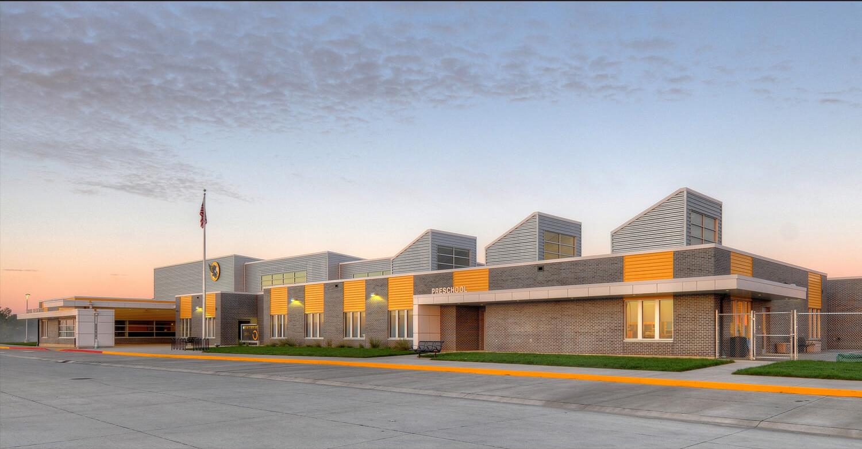 cmba-architects-portfolio-hinton-elementary-school-exterior-dusk-1