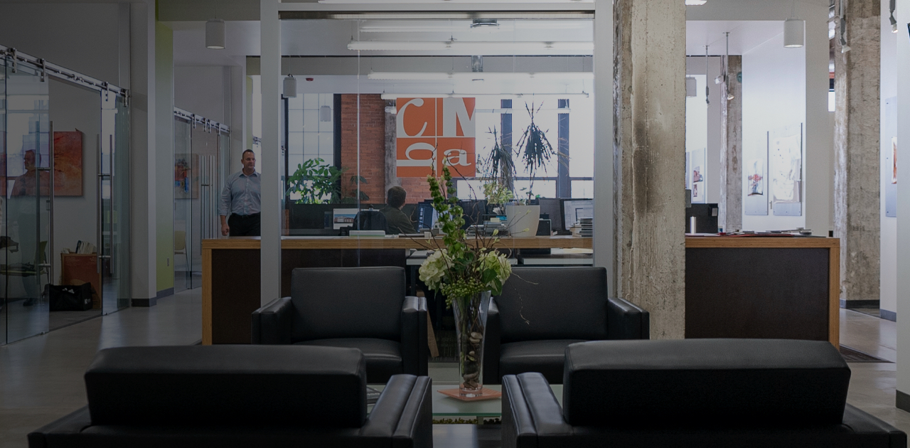 CMBA office lobby