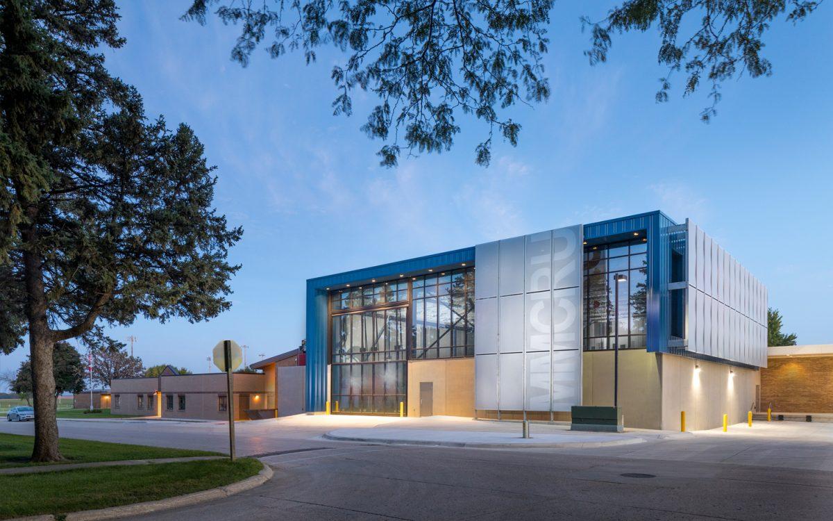 Exterior of MMCRU Community Schools, Industrial Technology Addition