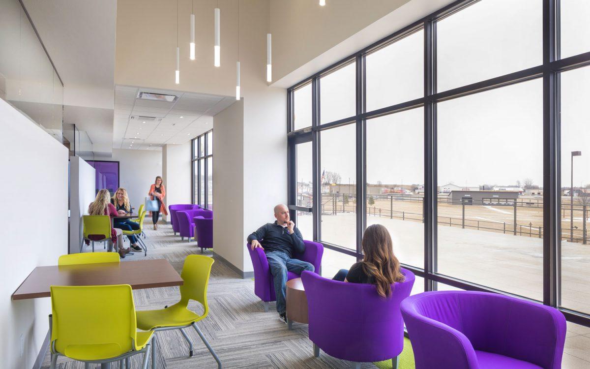 Lounge area inside Grape Tree Medical Staffing