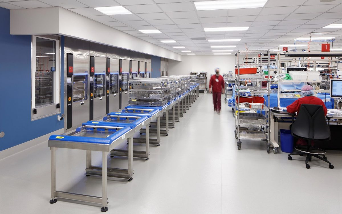 Interior of Central Sterile Services Facility